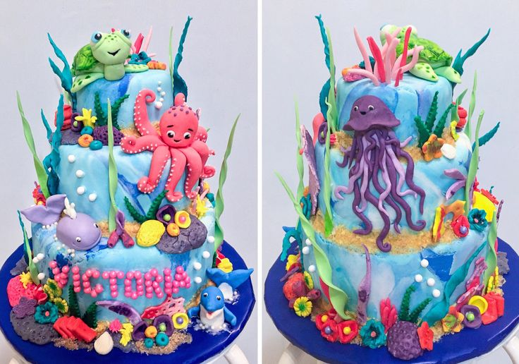 Aquarium Themed Cake