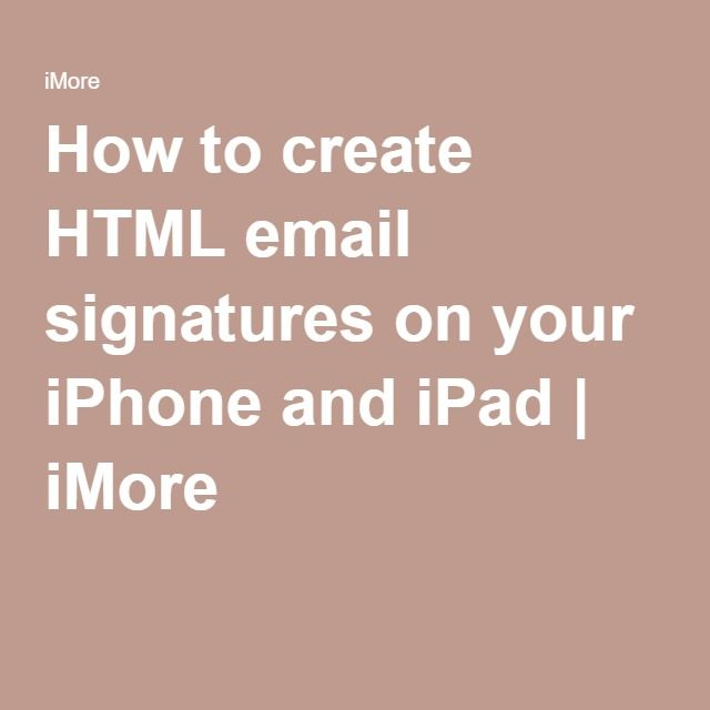 how to create signature in gmail on ipad