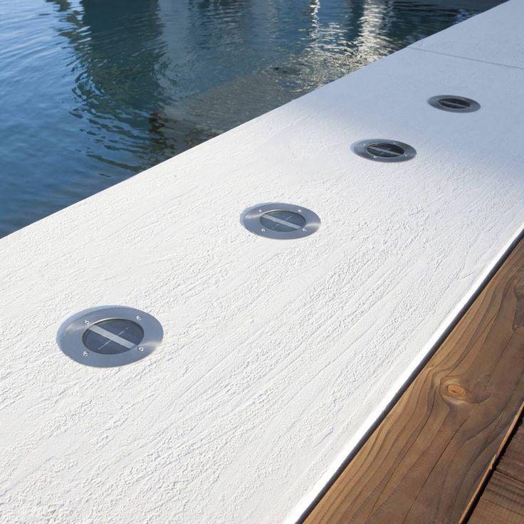GRENADA - Lot de 4 Spots d'extérieur LED encastrables solaires Inox Ø12cm Inspire