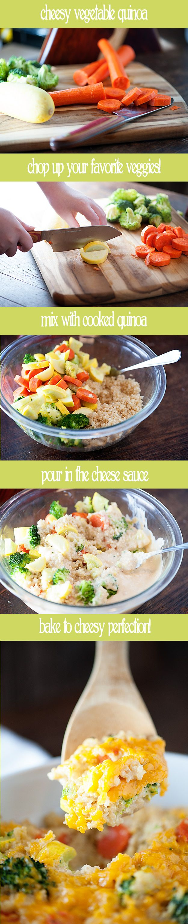 An easy weeknight recipe for a protein packed vegetable quinoa bake!