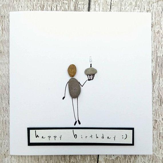 Birthday Card Card For Her Pebble Card Cute Card Quirky Etsy Birthday Cards Cards Cards For Friends