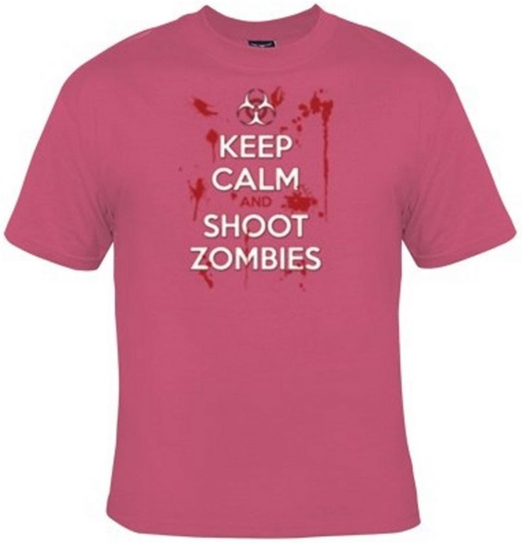 Keep Calm And Shoot Zombies T-Shirt Women's