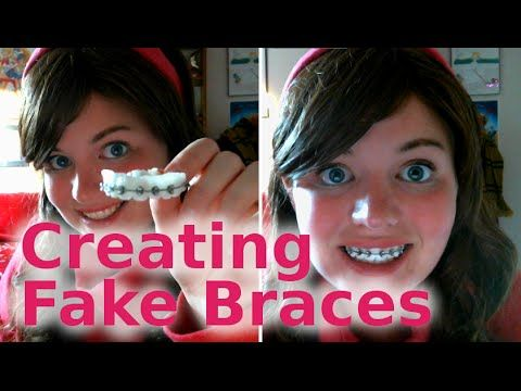 how to make fake braces that look real easy