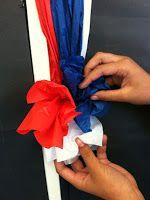 Step 5  DIY tissue paper borders