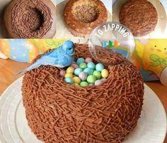 Cómo hacer pastel nido de paloma