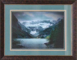 "New Triple Matted photo of Lake Louise, Alberta in Canada's Rocky Mountains. Photo taken by Carl Brownell/Joe-Lynn Design. Printed, matted and framed by Carl Brownell/Joe-Lynn Design. $220.00  Print is 16"" x 12 "" (Verona ultra smooth fine art HD 250 - 100% cotton) mounted on foam core and finished in the back. Ready to hang. Call 204-586-4738 Find more images at www.joe-lynn.com/"