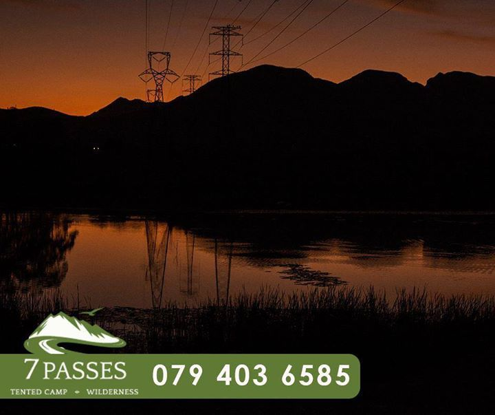 Enjoy the sunset and tranquility at #7passes, Don't delay, book your stay today, contact us on 079 403 6585. #Camping #Wilderness