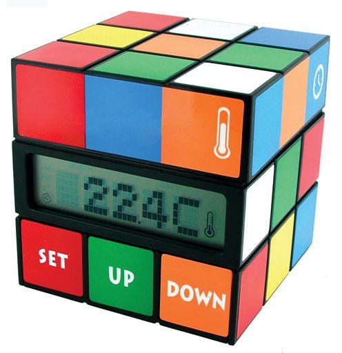 Rubiks cube clock: Clocks Puzzles, Cubes Timepiec, Alarm Clocks, Rubikscub Clocks, Rubik Cubes, Clocks Changing, 80 S Cubes, Cubes Clocks, Clocks Ticking