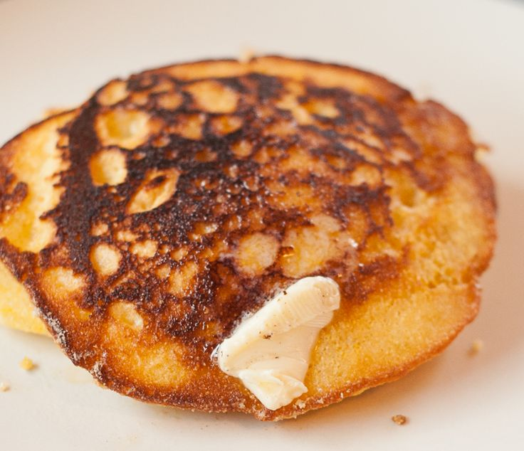 Old Fashioned Johnny Cake recipe. Cornmeal pancakes made like how grandma would have covered in delicious maple syrup.