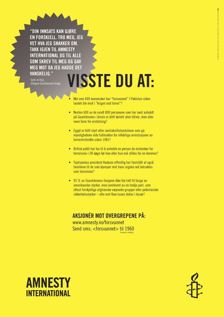 Amnesty folder. Uspesifisert. Side 8