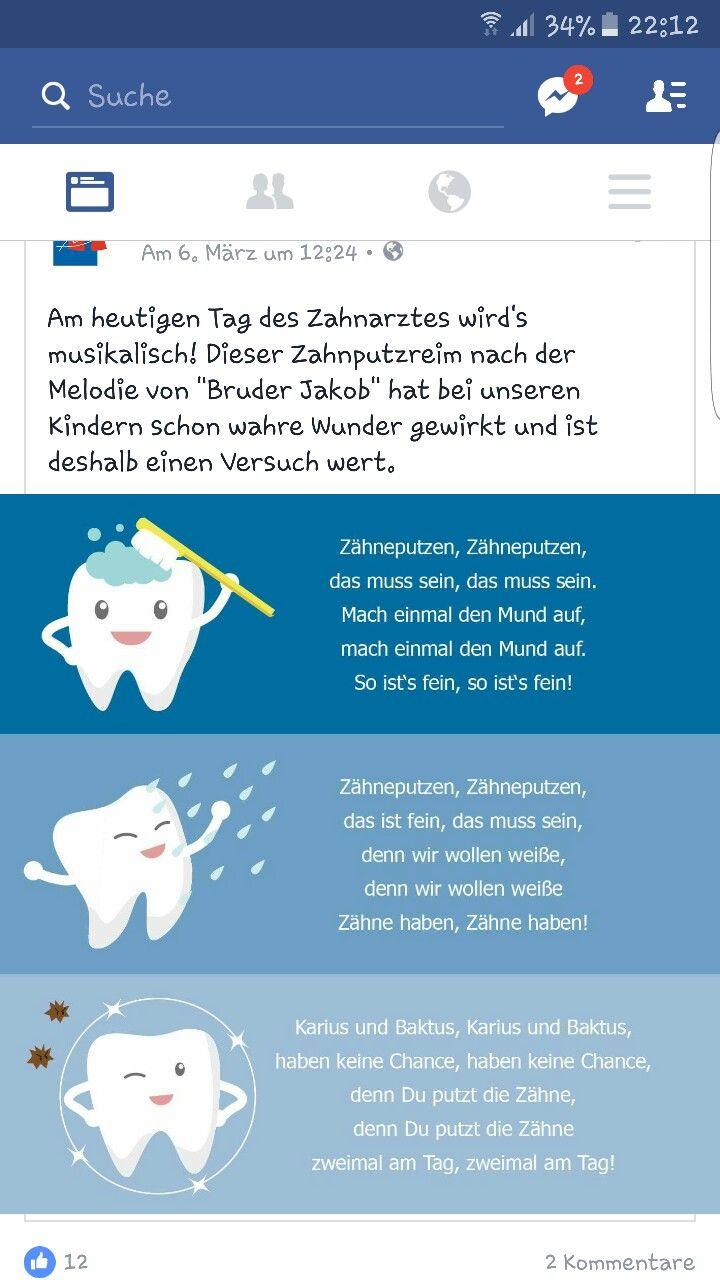 """Zahnputzlied zur Melodie von """"Bruder Jakob"""""""