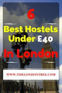 Top 6 Hostels Under £40 In London