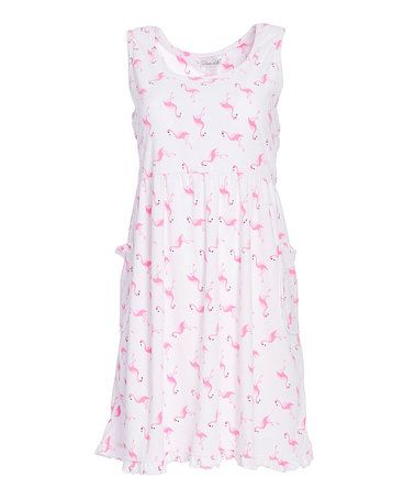 Loving this White Flamingo Vintage Terry Lounge Dress on #zulily! #zulilyfinds