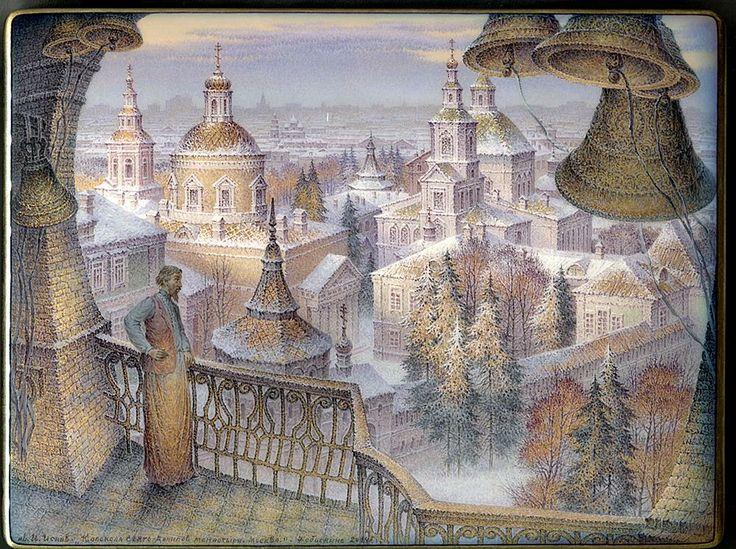 """A View to St.Daniil's Monastery, Moscow"". Artist: Isaev Igor"
