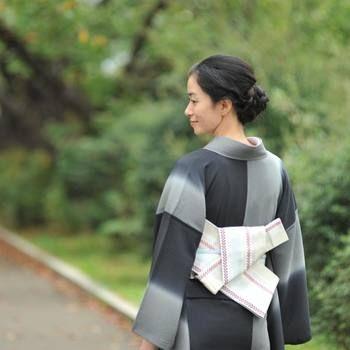 着物に合わせてもOK♪カジュアルな「半幅帯」の結び方と素敵なコーディネート