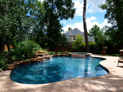 16 best swimming pool waterfalls images on pinterest for Deep swimming pools for garden
