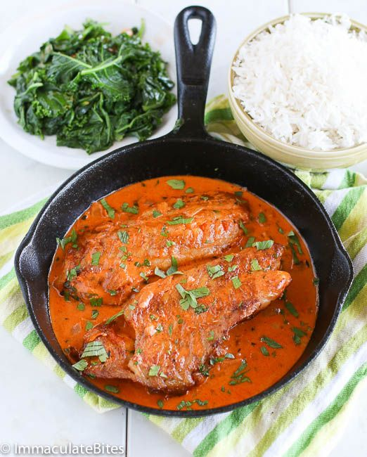 Red Snapper Filet with Tomato Sauce, can be served with rice or potatoes.