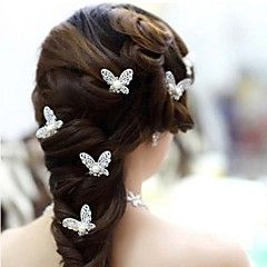 Femme Jeune bouquetière Alliage Imitation de perle Casque-Mariage Occasion spéciale Epingle à Cheveux 4 Pièces