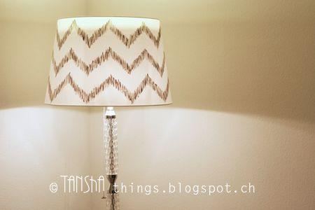 Stehleuchte bemalter Lampenschirm von Ikea #upcycling #diy #lampshade