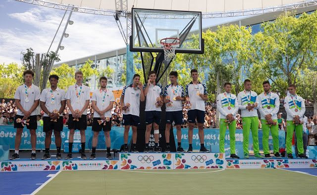 Basketball 3x3 Match At Buenos Aires 2018 Summer Youth Basketball Buenos Aires