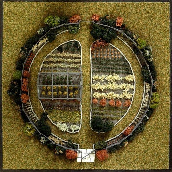 Potager circulaire, Connecticut États-Unis) (échelle 1/75ème), Jacques Hennequin /©Musée du Vivant-AgroParisTech