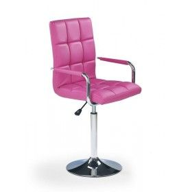 Fotel biurowy hoker Gonzo różowy