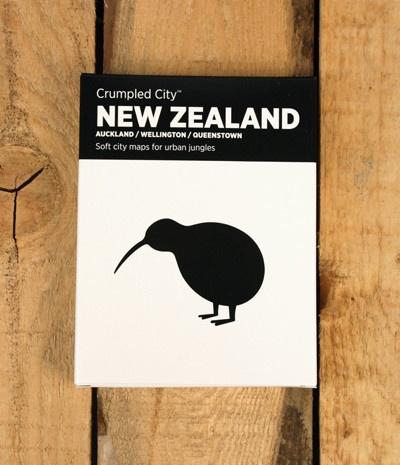 Crumpled City Map - New Zealand (Auckland/Wellington/Queenstown)
