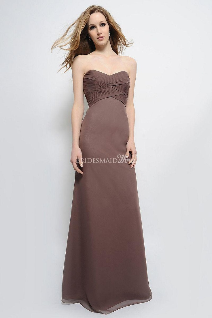 229 best bridesmaid dresses images on pinterest bridesmaids perfect sweetheart neck floor length mocha chiffon bridesmaid gown ombrellifo Choice Image