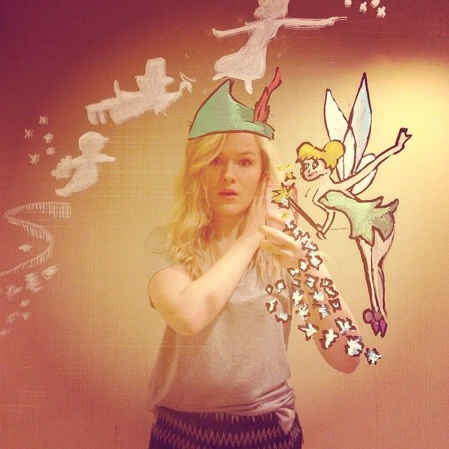 Helene Meldahl takes things to the next level with her selfies and doodling genius.