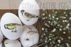 Ostereier mit Tattoo-Folie & Vintage-Motiven gestalten {DIY}