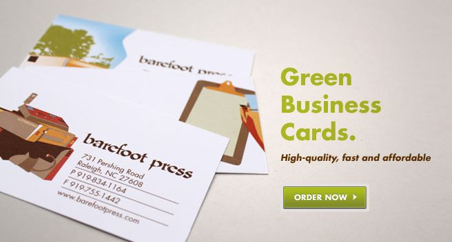 47 best business cards images on pinterest carte de visite the original green printer in raleigh nc is barefoot press offering green printing using soy inks and recycled papers and eco friendly printing methods reheart Image collections