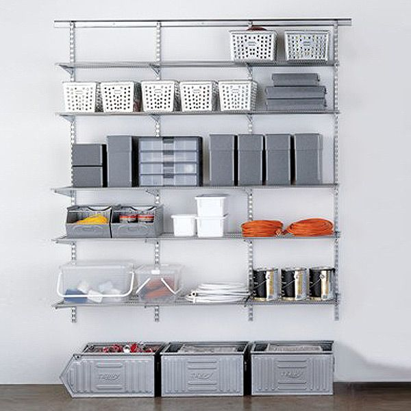 The Container Store U003e Platinum Elfa Easy Hang Utility Storage Idea (back  Wall)