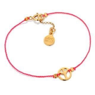 Różowa nitka z pacyfką.  #young #mokobelle #jewelry #teen #teens #biżuteria #dzieci #nastolatki #dodatki #bracelet #bransoletka #peace
