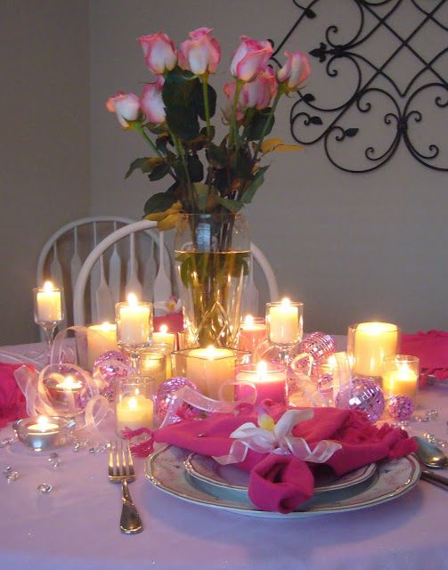 Pink Tablescape for Breast Cancer Awareness Month: Pink Cancer, Pink Everyrh, Breast Cancer Awareness, Pink Tablescapes, Ribbons, Tablescapes Ideas, Awareness Parties, Parties Ideas, Parties Tables