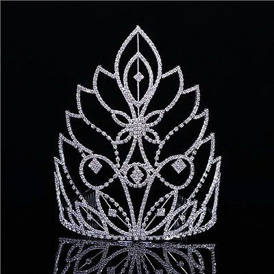 Ad(eBay Url) 20cm High Large Full Crystal Wedding Bridal Party Pageant Prom Tiara Crown Combs