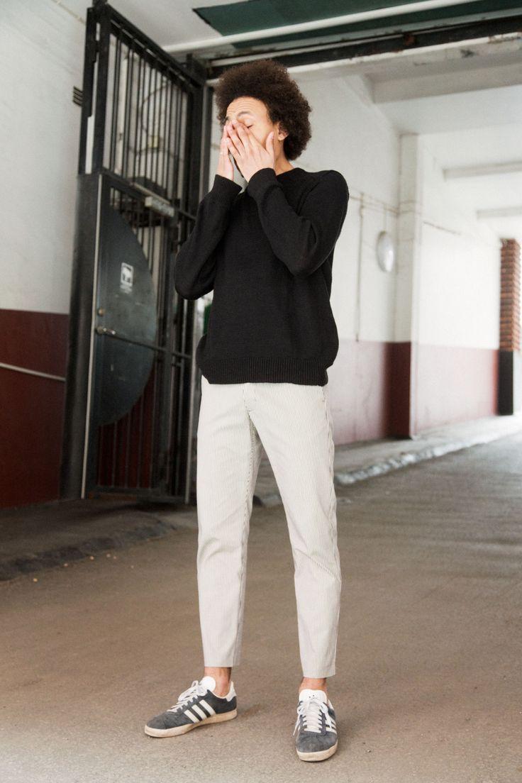 Hiro Trouser - White Stripe #HopeStockholm http://hope-sthlm.com/hiro-trouser-white-stripe