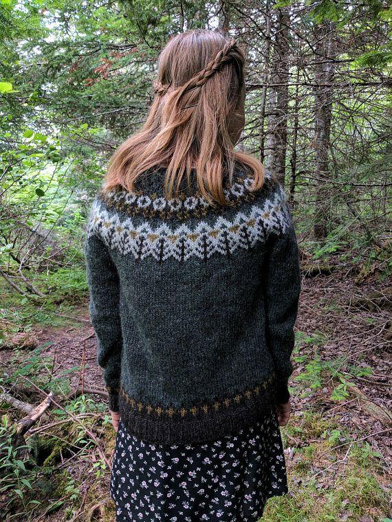 Woodland Icelandic Sweater / Lopapeysa Size S READY to SHIP