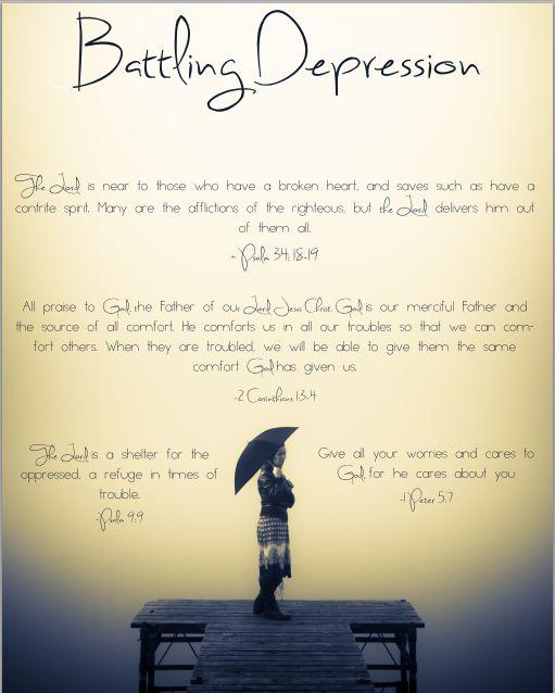 Encouraging Scriptures For Battling Depression (free