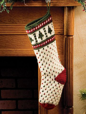 No one will have the same stocking as you with this beautiful crochet stocking.