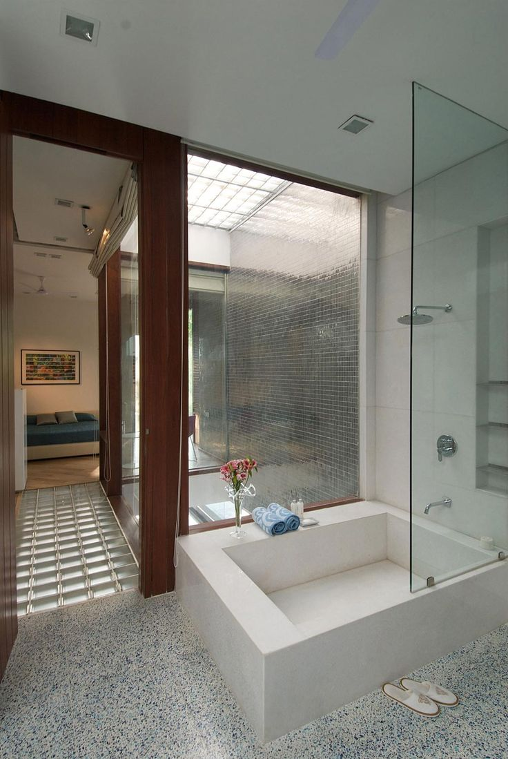 Shower, Poona House In Mumbai, India By Rajiv Saini · Small BathtubBathtub  ...