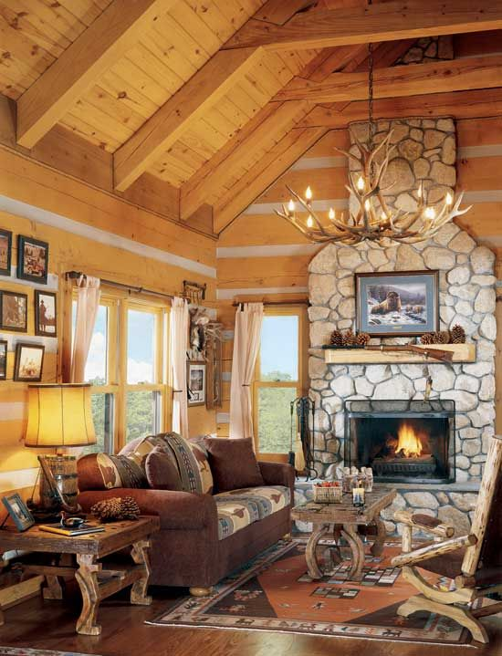 17 best images about log house interior on pinterest for Great american log homes