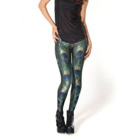 Peacock Digital Print Leggings