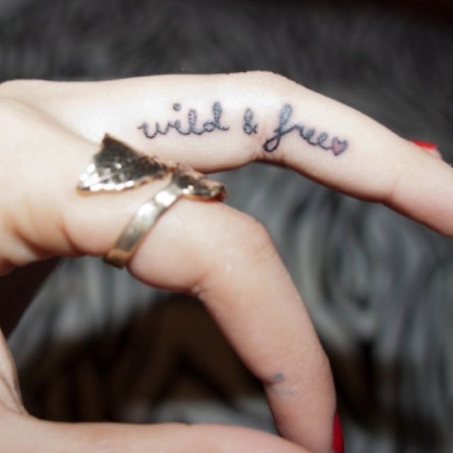25+ Best Ideas About Finger Tattoos Words On Pinterest