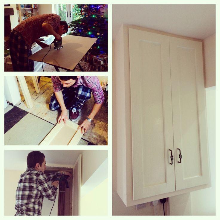 Home made boiler cupboard doors