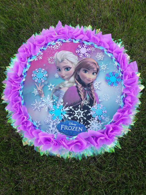 frozen pinata, frozen, frozen party,frozen birthday decoration, frozen custom pinata,pinata on Etsy, $40.00