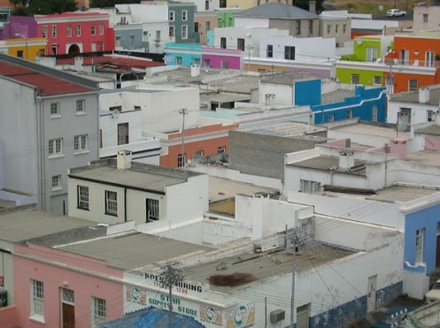 Colourful Houses, Cape Town Location.
