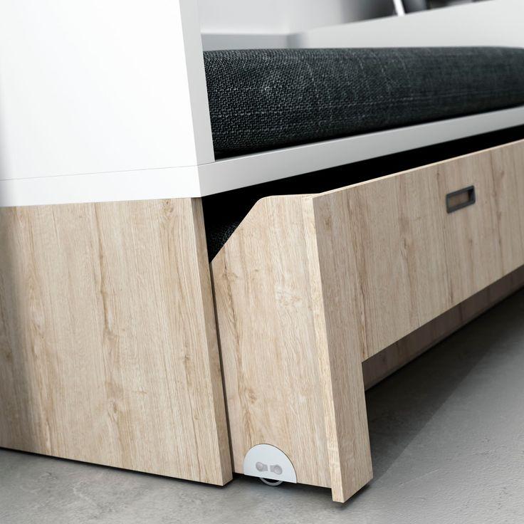 Dormitorios juveniles  Habitaciones infantiles y mueble juvenil Madrid: Camas compacto juveniles de igual medida la cama de arriba que la de abajo.Camas gemelas