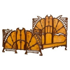 Rare Art Nouveau Bed - STUNNING!