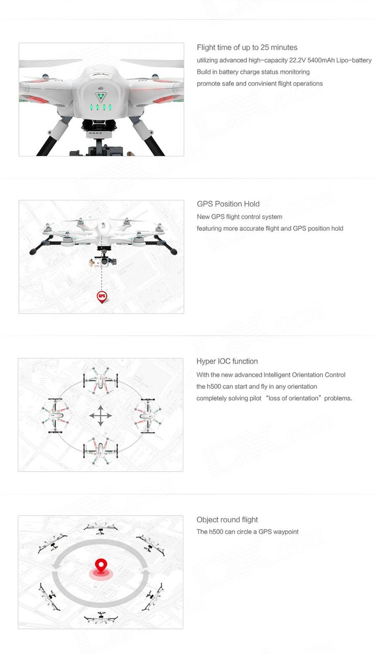 Walkera TALI H500 12-CH 2.4GHz Radio Control Outdoor Hexacopter w/ Camera / GPS / Gyro - White - Free Shipping - DealExtreme
