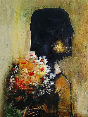 Charles-BLACKMAN-Girl-Yellow-Bouquet-large-SIGNED-Limited-Edition-Print-COA